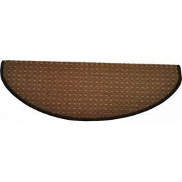 Vopi koberce Nášlapy na schody hnědý Birmingham půlkruh,   24 x 65 cm půlkruh Hnědá