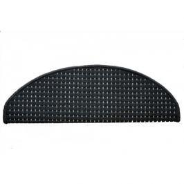 Vopi koberce Nášlapy na schody antra Birmingham půlkruh,   24 x 65 cm půlkruh Černá