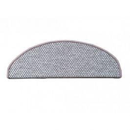Vopi koberce Nášlapy na schody platinová Nature půlkruh,   24 x 65 cm půlkruh Béžová