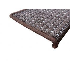 Vopi koberce Nášlapy na schody hnědý Birmingham obdélník,   24 x 65 cm obdélník Hnědá