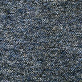 Timzo Metrážový koberec Saturn 35 modro-černý, Rozměr metrážního koberce 4m Rozměr na míru Modrá