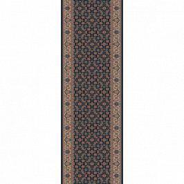 Lano luxusní orientální koberce Běhoun Konia 1137-534, Šířka běhounu šíře 50 cm Černá