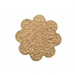 Vopi koberce Kusový koberec Color shaggy béžový kytka,   120x120 cm Béžová