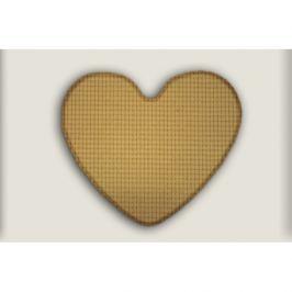 Vopi koberce Kusový koberec Birmingham béžový srdce,   100x120 cm - srdce Béžová