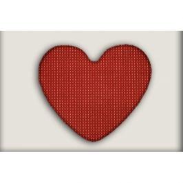 Vopi koberce Kusový koberec Birmingham vínový srdce,   100x120 cm - srdce Červená