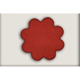 Vopi koberce Kusový koberec Birmingham vínový kytka,   160x160 cm kruh Červená