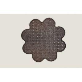 Vopi koberce Kusový koberec Udinese hnědý kytka,   120x120 cm kruh Hnědá