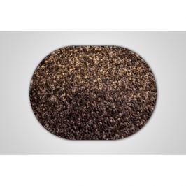 Vopi koberce Kusový hnědý koberec Eton ovál,   120x160 cm Hnědá