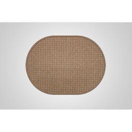 Vopi koberce Kusový koberec Birmingham hnědý ovál,   80x150 cm Hnědá