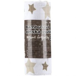 T-tomi Bambusová osuška 1 ks - béžové hvězdičky