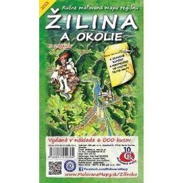 Žilina a okolie: Ručne maľovaná mapa regiónu