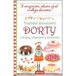 Tradiční slavnostní dorty s krémy, náplněmi a zdobením: K narozeninám, oslavám výročí a velkým slavn