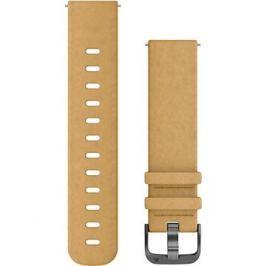 Garmin Quick Release Band (20 mm), semišový světle hnědý, šedá přezka