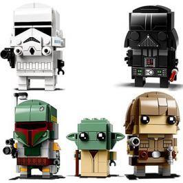 LEGO BrickHeadz 41619 Darth Vader + 41620 Stormtrooper + 41627 Luke Skywalker a Yoda + 41629 Boba Fe