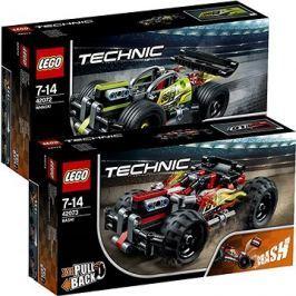 LEGO Technic 42073 Červená bugina + LEGO Technic 42072 Zelený závoďák