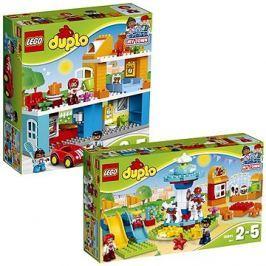 LEGO DUPLO Town 10835 Rodinný dům + LEGO DUPLO Town 10841 Zábavná rodinná pouť