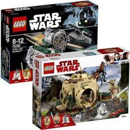 LEGO Star Wars 75168 Yodova jediská stíhačka + LEGO Star Wars 75208 Chýše Mistra Yody