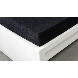 XPOSE ® Froté prostěradlo Exclusive jednolůžko - černá 90x200 cm