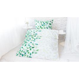 XPOSE ® Bavlněné povlečení na dvě lůžka IVANKA - zelená 140x200, 70x90