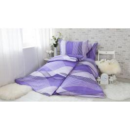 XPOSE ® Bavlněné povlečení na dvě lůžka AGNES - fialová 140x200, 70x90