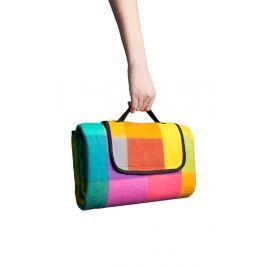 HomeLife Pikniková deka barevné kostky 130 x 150 cm