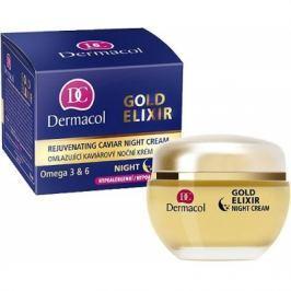 Dermacol Gold Elixir 50 ml noční pleťový krém proti vráskám pro ženy