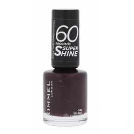 Rimmel London 60 Seconds Super Shine 8 ml lak na nehty pro ženy 345 Black Cherries