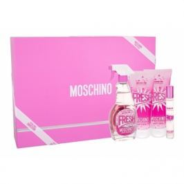 Moschino Fresh Couture Pink dárková kazeta pro ženy toaletní voda 100 ml + tělové mléko 100 ml + sprchový gel 100 ml + toaletní voda 10 ml