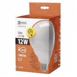 EMOS globe, 12W, E27, studená bílá (LED-G120-SI-E27-12W-DL)